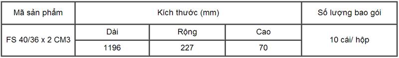 Chao đèn huỳnh quang cho doanh nghiệp, loại đôi FS 40/36 x 2 CM3