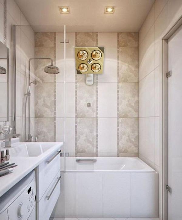 Đèn sưởi nhà tắm Kottmann 4 bóng dòng vàng (KOTT-GOLDEN) 1140 W lap dat