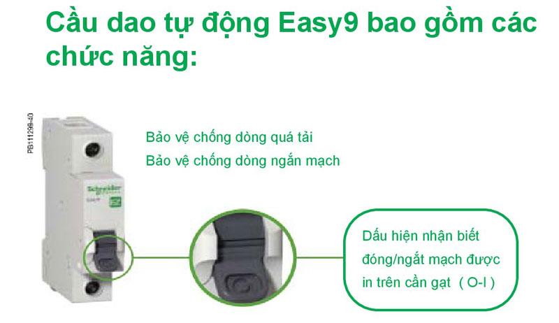 Chức năng Aptomat Schneider Easy 9  loại 1 pha 50A/ 63A ( EZ9F34150, EZ9F34163  )