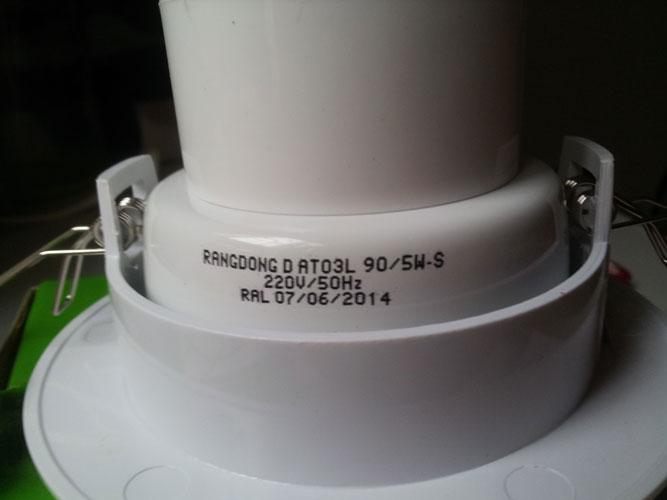 Đèn LED downlight Rạng Đông 5W - D90 (D AT03L 90/5W) chính hãng