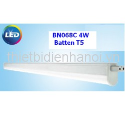 Máng đèn Slim LED Batten T5 (BN068C) Philips 4W (LED 300lm/300mm)